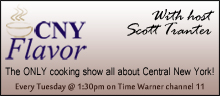 CNY Flavor - The ONLY cooking show all about Central New York!